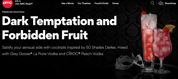 """Fifty Shades"" coctail at AMC. (image: AMC website)"