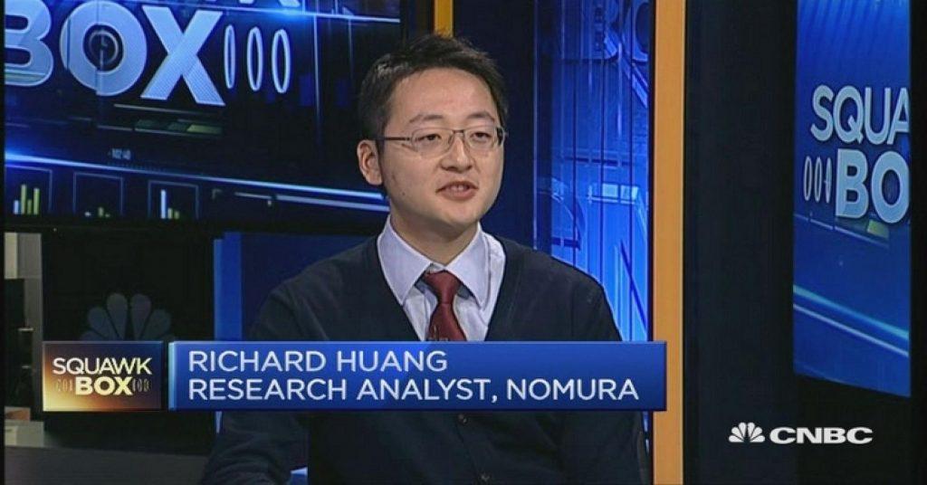 Richard Huang, Nomura. Perpetual prognosticator. (image: CNBC)