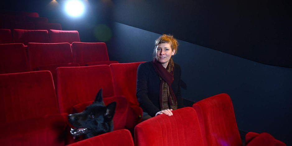 Wolf Kino's Verena von Stueckelberg with dog - we hope (photo: Marcus Wachter / BZ)
