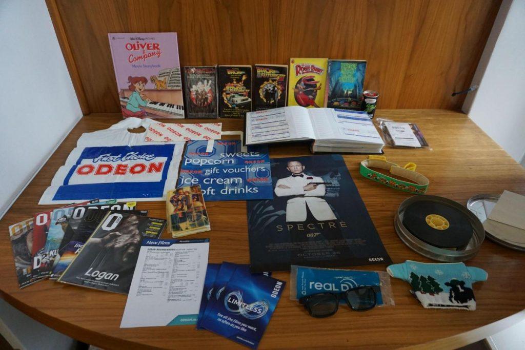 Odeon memorabilia collected by Liana Copland. (photo: Bournemouth Echo)