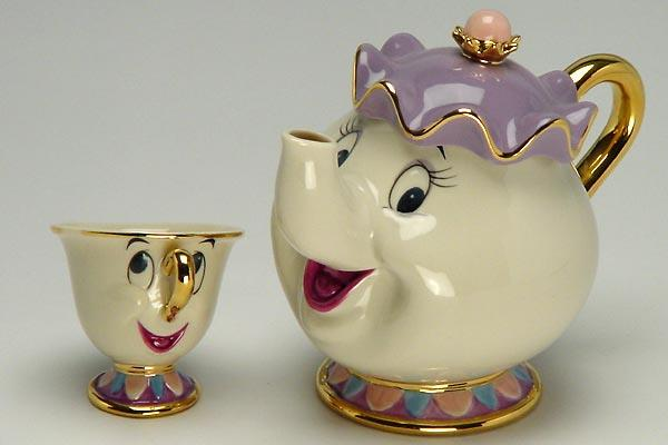 Beauty and Beast tea pot and cup