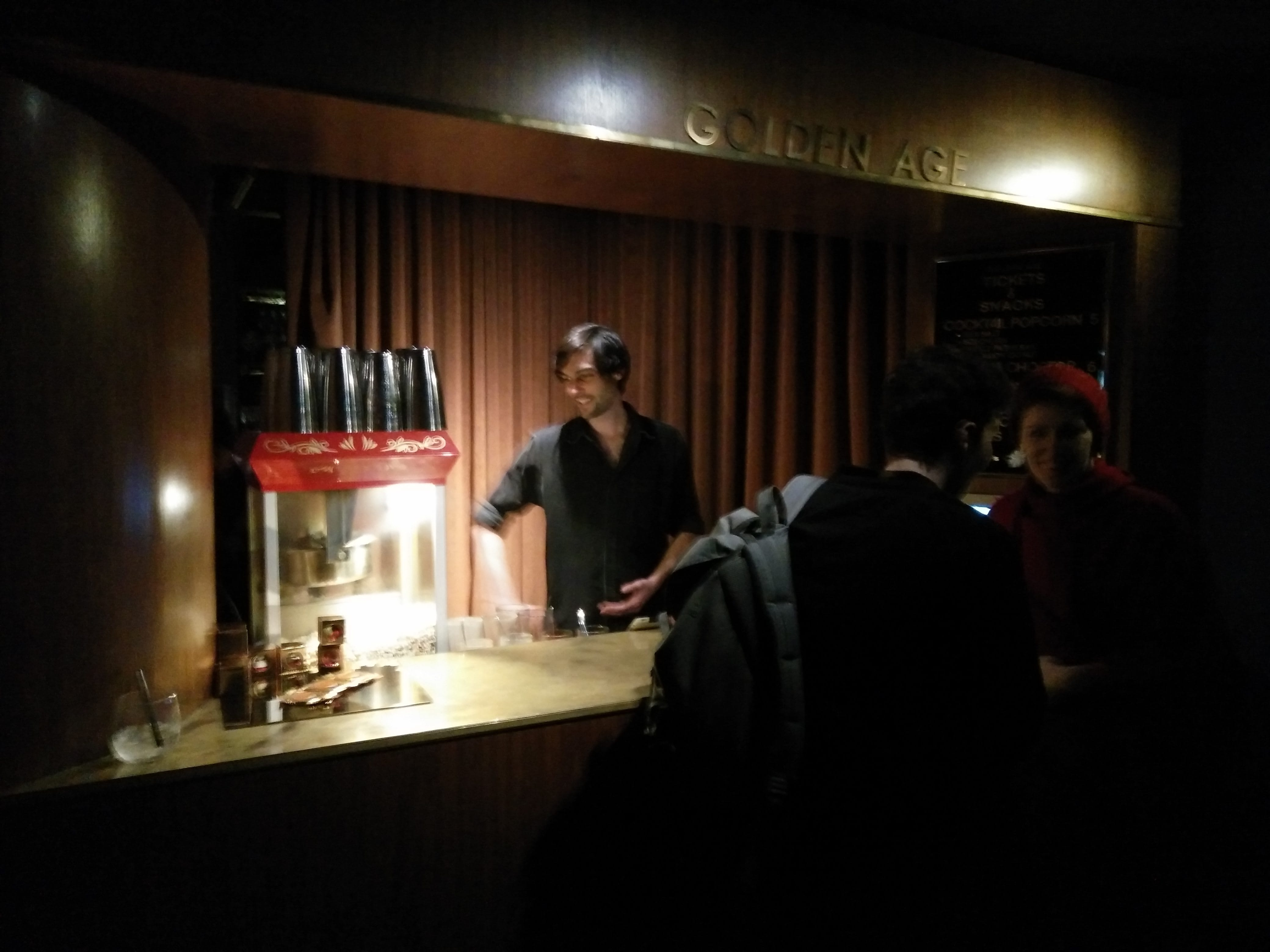 The Popcorn Bartender at the Golden Age Cinema in Sydney, Australia