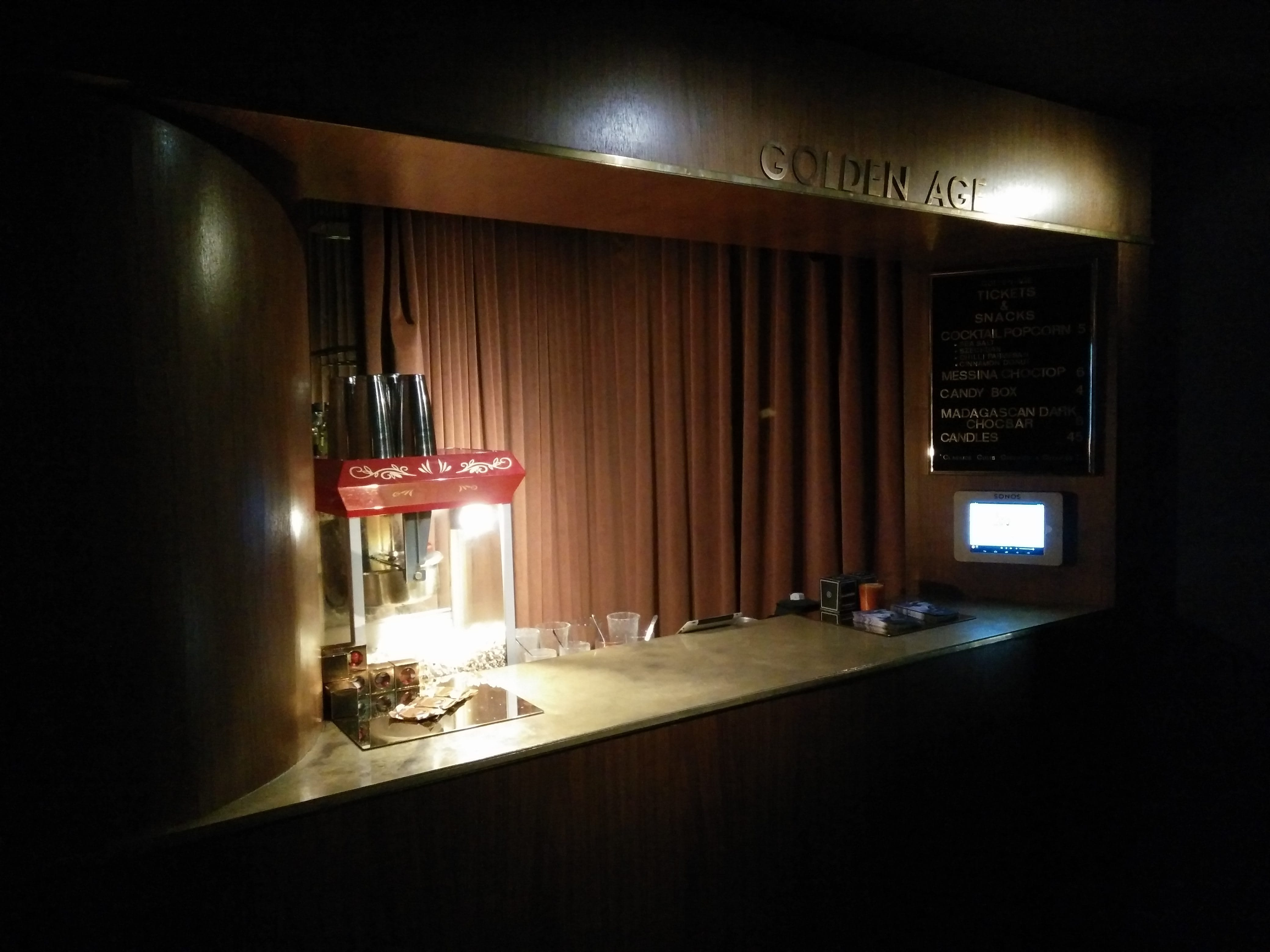 The concessions stand at the Golden Age Cinema in Sydney, Australia.