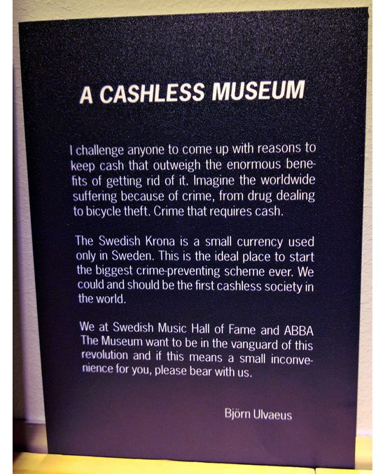 ABBA cashless museum