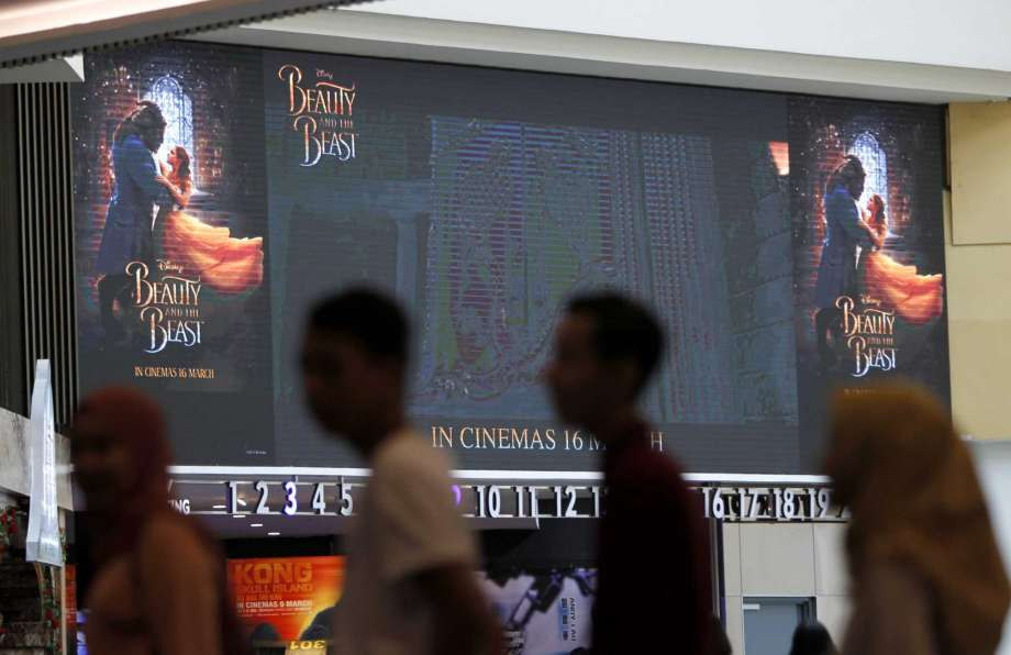 """Beauty & the Beast"" - not showing in Malaysia. (photo: Daniel Chan / AP)"