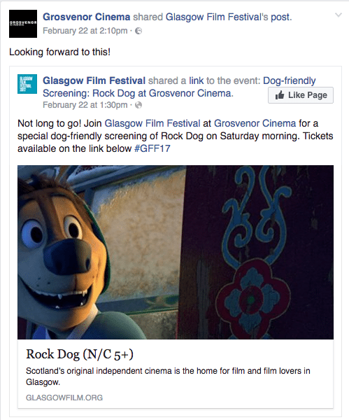 Rock Dog - dog friendly cinema Glasgow Grosvenor cinema