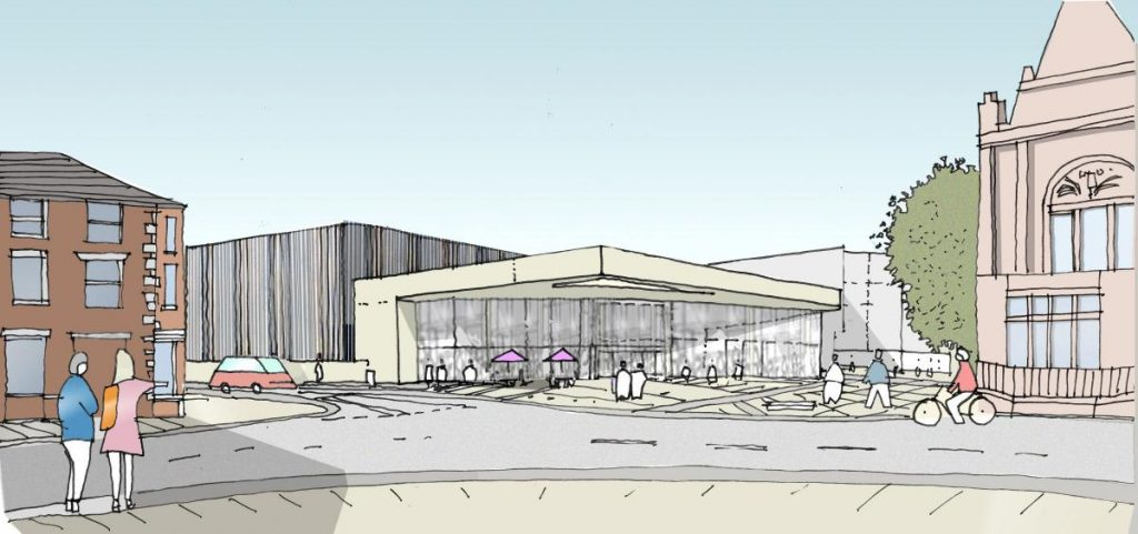 Plans for the Blackburn cinema. (image: artist's impression)
