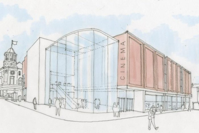 The Light's proposed Newborough cinema. (image: artist's impression)