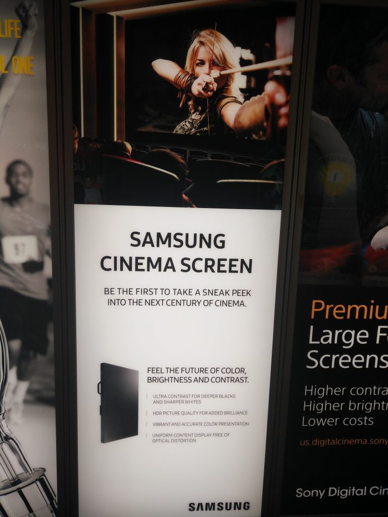 The closest many of us got to the Samsung screen at CinemaCon. (photo: Patrick von Sychowski - Celluloid Junkie)