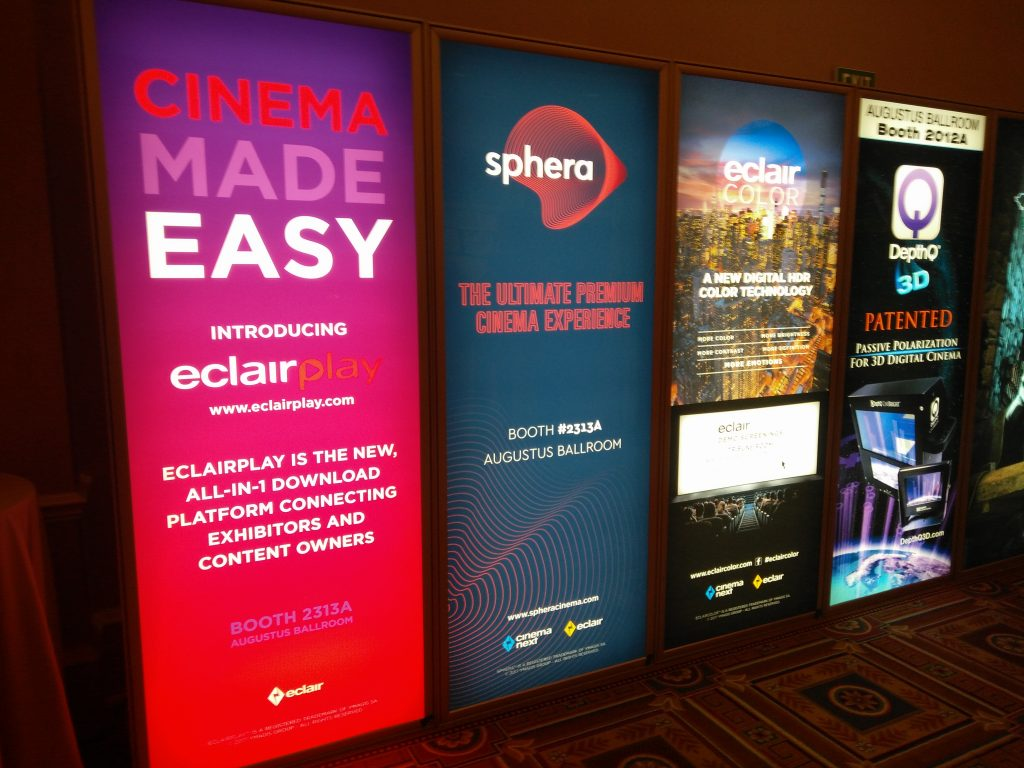 EclairPlay, Sphera and EclairColor at CinemaCon. (photo: Patrick von Sychowski - Celluloid Junkie)