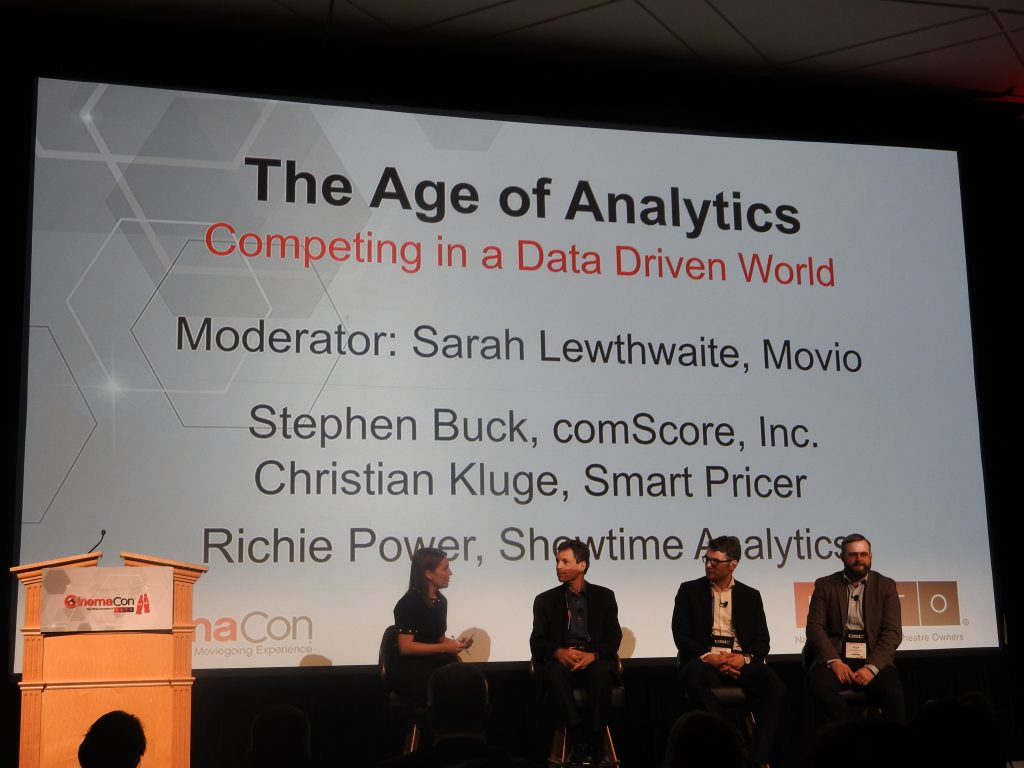The Big Data Band together on stage at CinemaCon. (photo: Patrick von Sychowski - Celluloid Junkie)