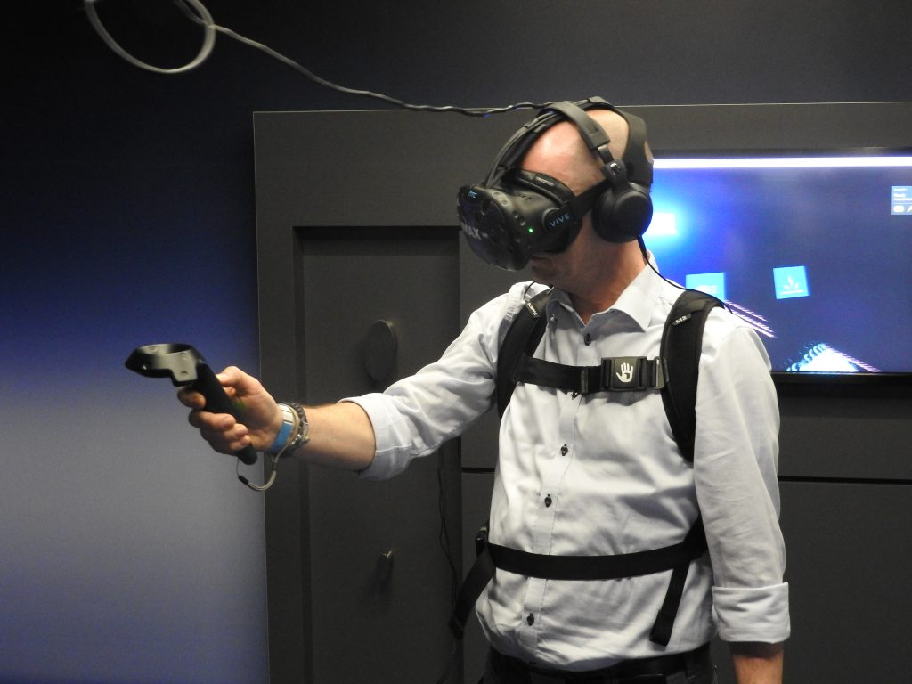 Testing Imax VR. (photo: Patrick von Sychowski - Celluloid Junkie)