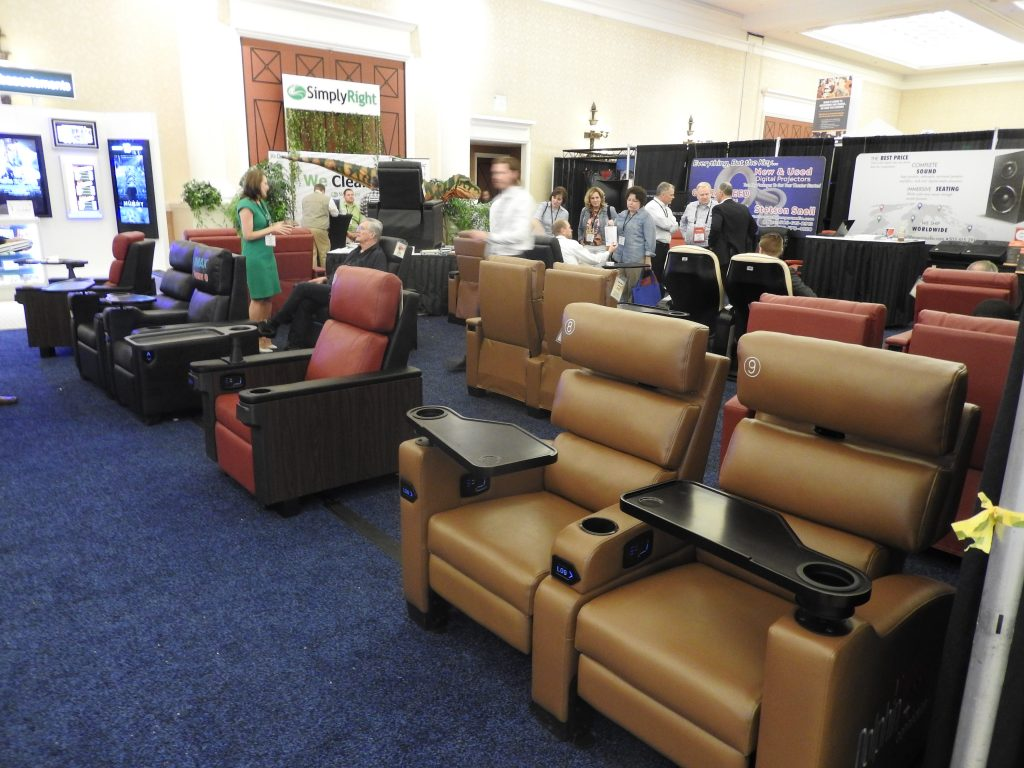 Seating at CinemaCon trade show floor. (photo: Patrick von Sychowski - Celluloid Junkie)