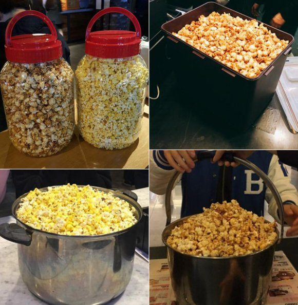 CGV popcorn containers - 1 April special. (images: CGV Facebook)