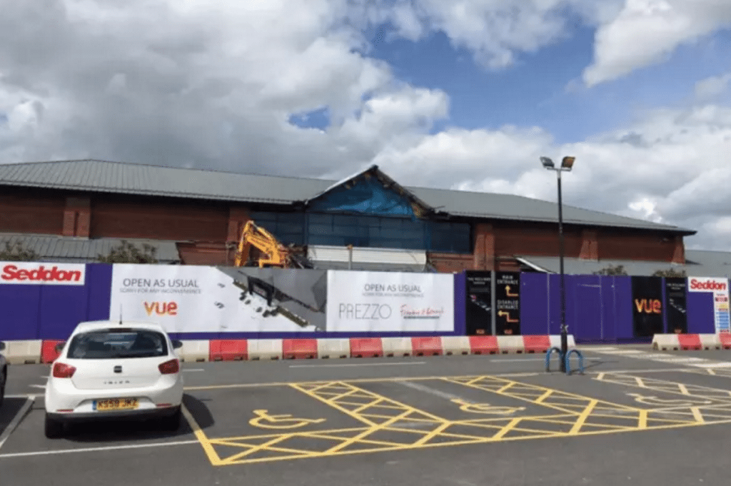 Work underway on Vue Cinema Capitol Centre in Walton-le-Dale. (photo: LEP)