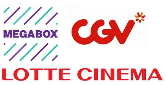 Megabox, CGV and Lotte. (graphics: eat.stretch.explore)
