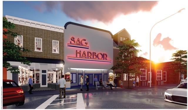 The planned re-build of the Sag Harbor cinema. (image: artist's impression)