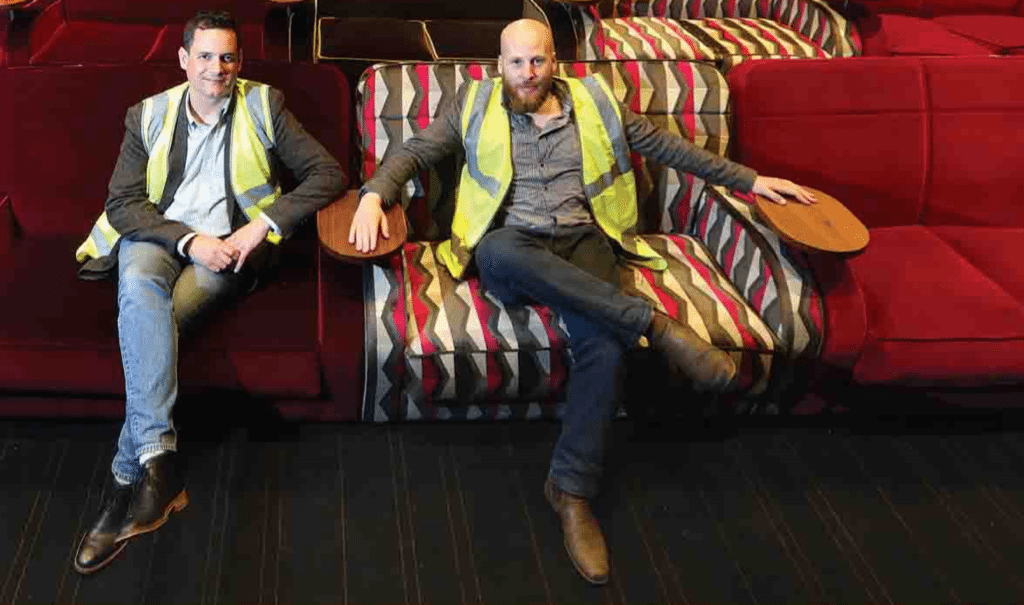 Everyman CEO Crispin Lilly and Manager Marc Pantling. (photo: MArk Williamson / Stratfor Herald)