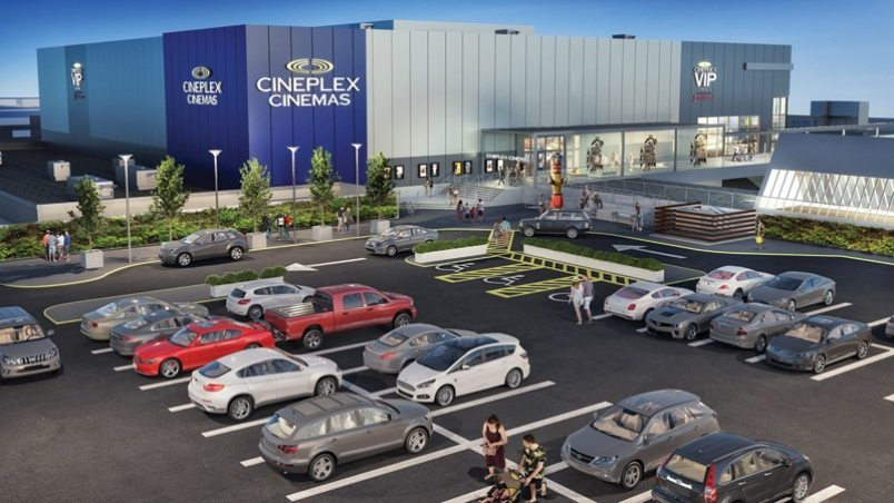 Cineplex's planned multiplex at Park Royal, Vancouver. (image: artist's impression)