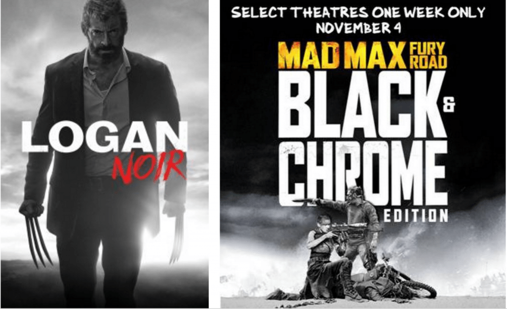 Logan Noir and Mad Max Fury Road Black & Chrome
