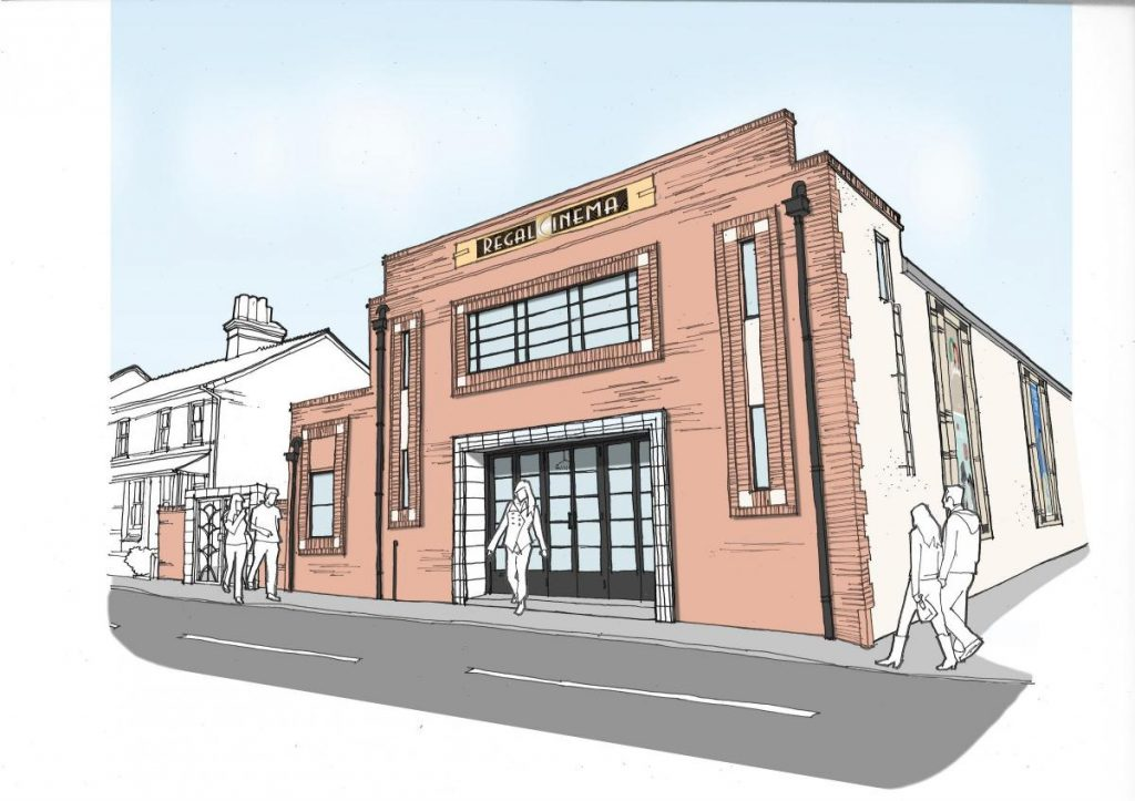 Regal Cinema in Fordingbridge. (image: artist's impression)