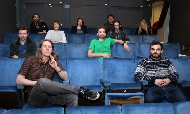 Small Cinema and its volunteer operators. (photo: Ian Cooper)