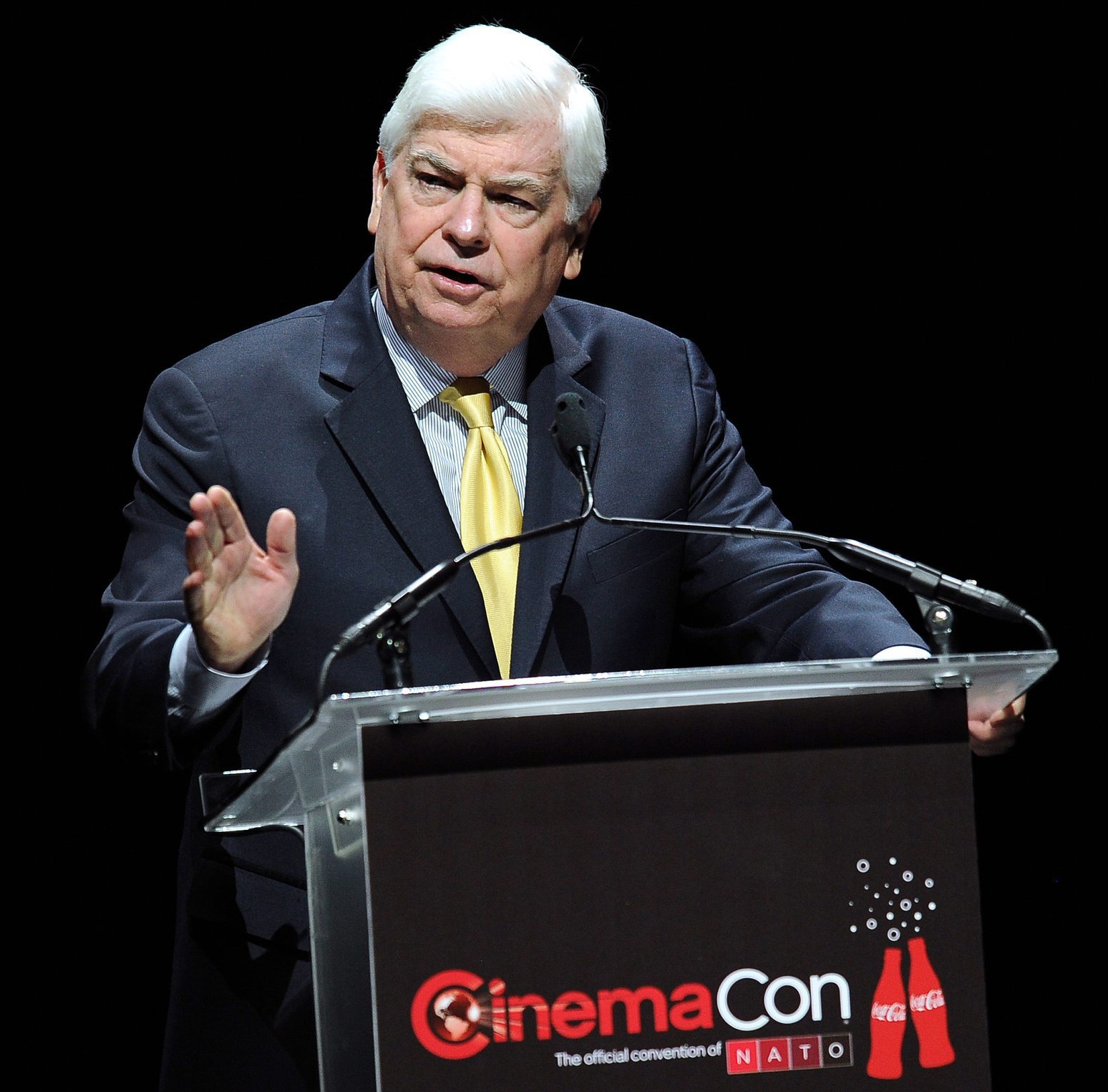 Chris Dodd of the MPAA at CinemaCon in 2014