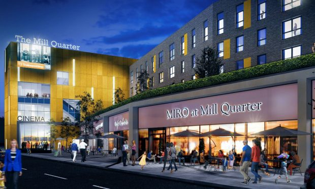 MillQuarter is set to include a cinema. (image: artist's impression)