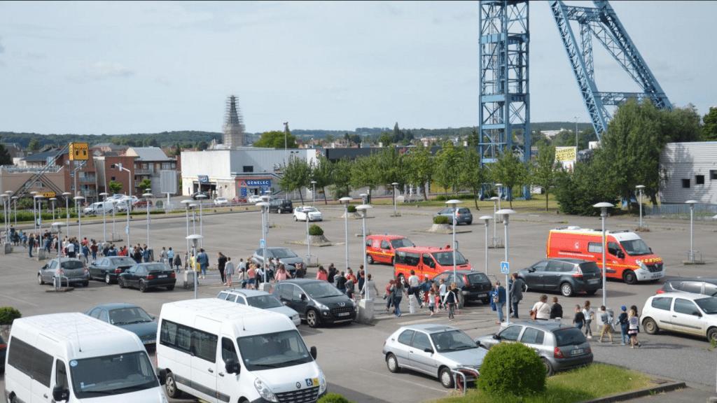 Evacuation exercise at the cinema. (photo: La Voix du Nord)