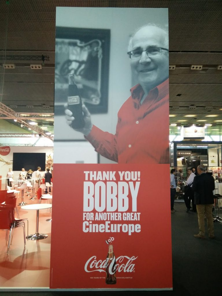 Bob + Coke = Great CineEurope. (photo: Patrick von Sychowski / Celluloid Junkie)