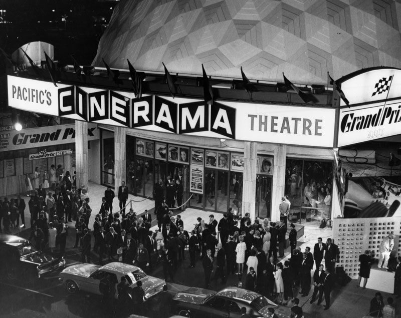 Cinerama Dome Grand Prix Premiere in 1966
