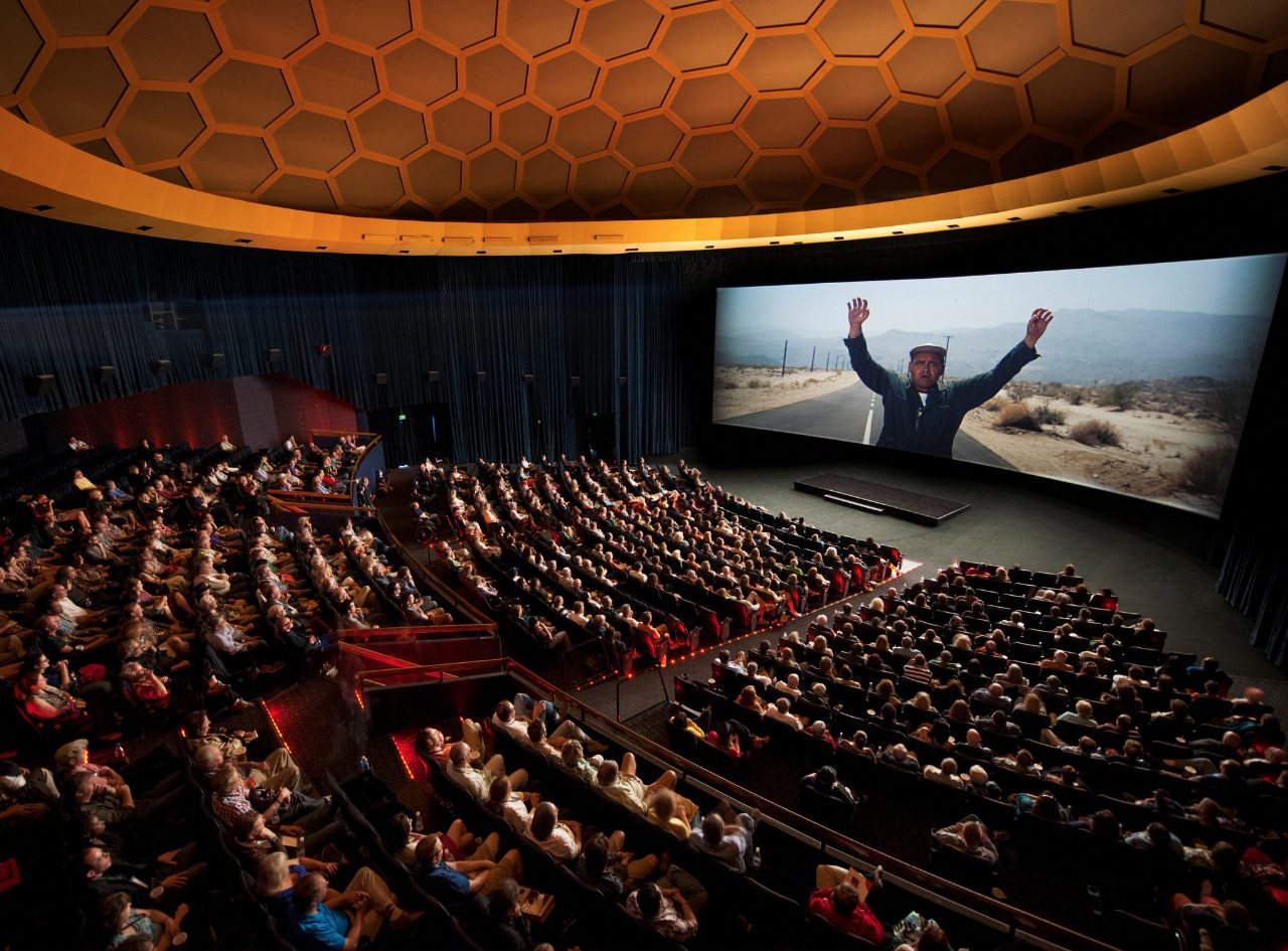 ArcLight Hollywood Cinerama Dome Interior with Audience