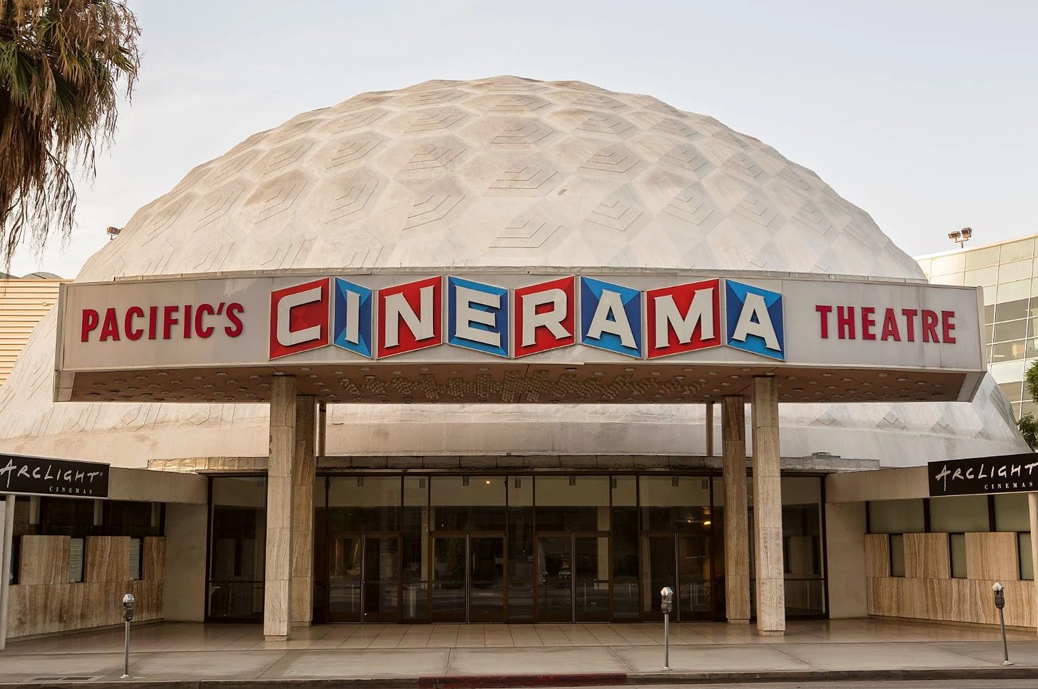 ArcLight Hollywood Cinerama Dome Entrance at Sunset