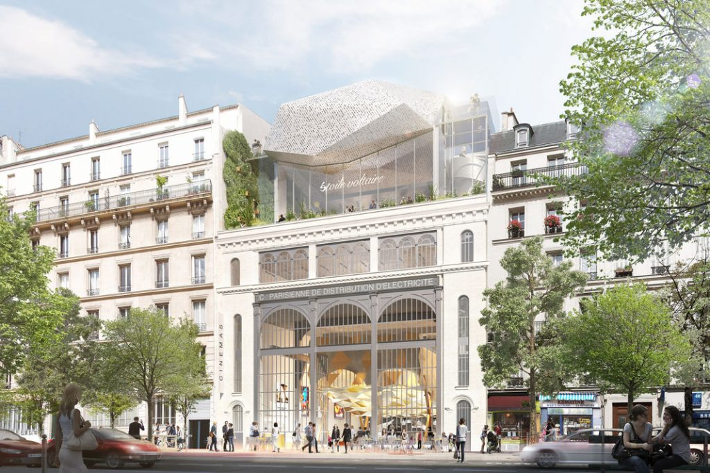 Contested cinema plan in Prais. (image: Olivier Palatre Architects / Atelier Roberta / Etoile Cinemas)