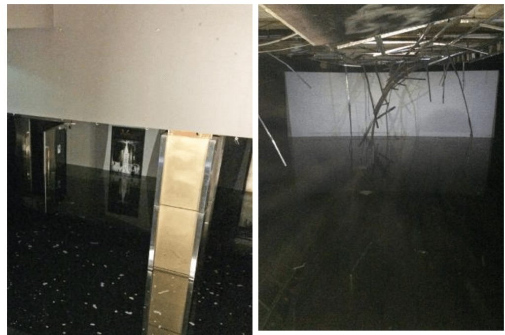 Sydney's George St. Event Cinema flooded. (photos: Daily Telegraph)
