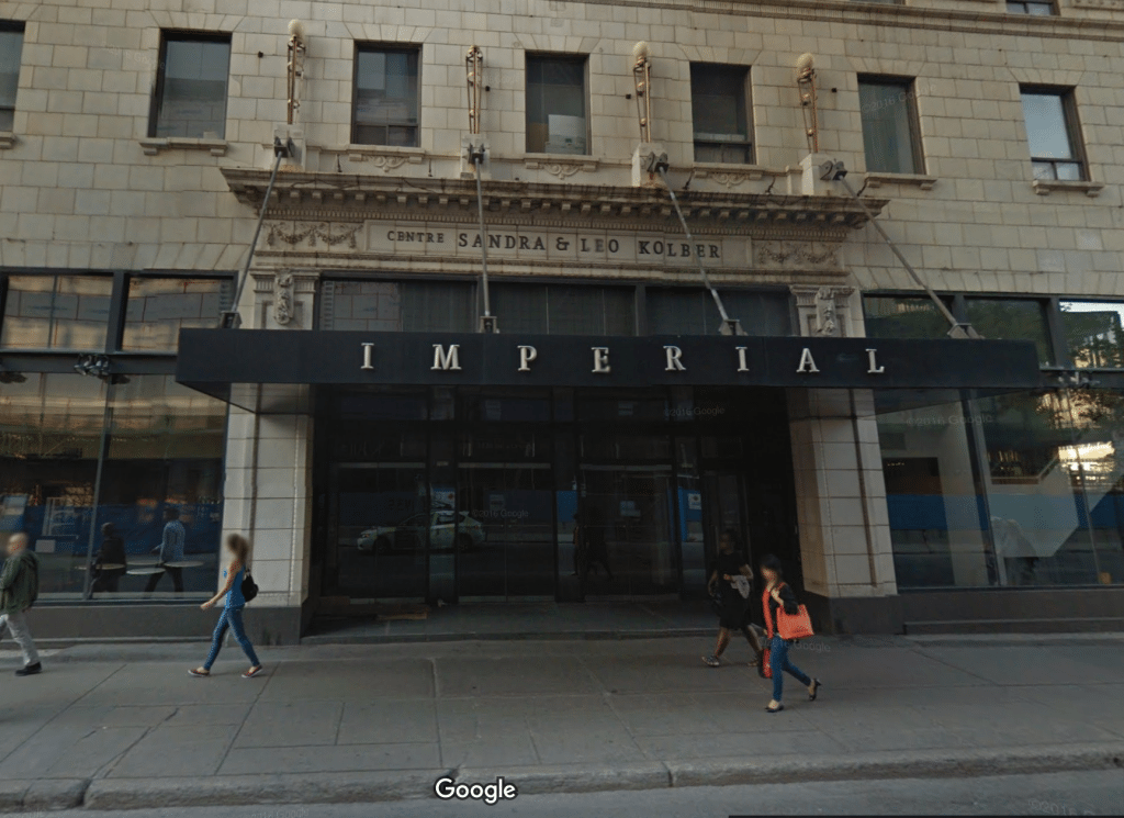 Montreal's Cinéma Impérial. (image: Google Earth)