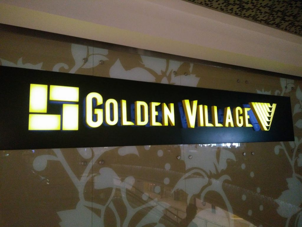 Golden Village Katon logo Singapore (photo: Patrick von Sychowski / Celluloid Junkie)
