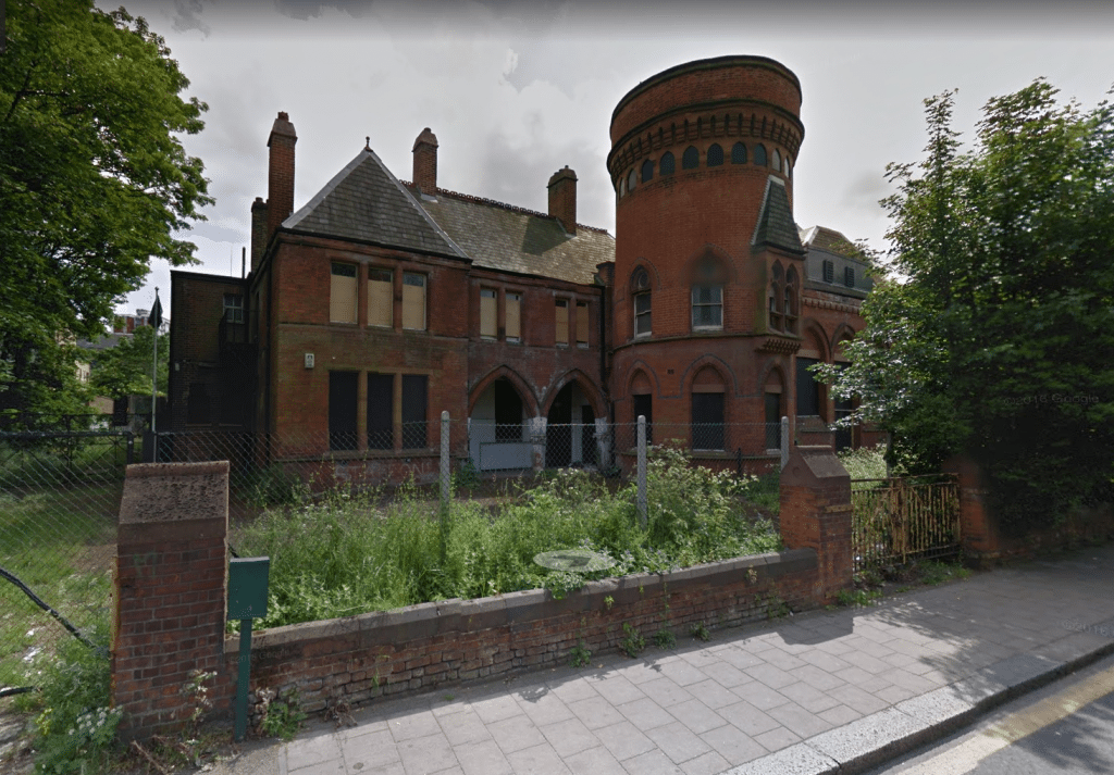 Ladywell Playtower in Lewisham. (image: Google Earth)