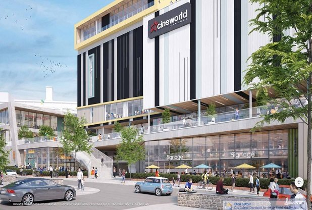 Cineworld Plymouth plans. (image: artist's impression)