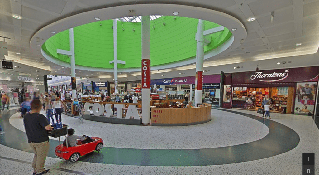 Leeds' White Rose Centre interior. (image: Google Earth)