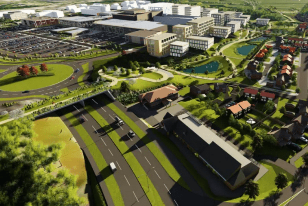 Thorpe Park Leeds plans. (image: artist's impression)