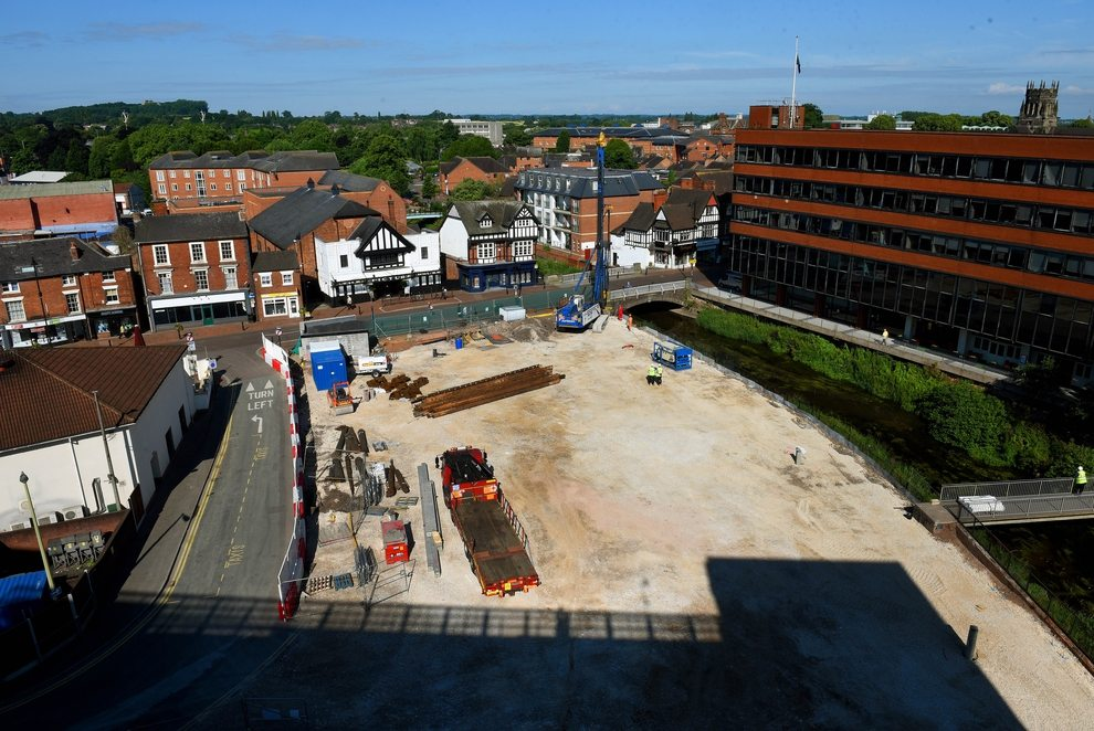 Work underway on the new Odeon. (photo: Express & Star)