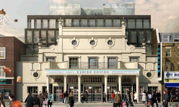 Replica frontage of the planned Curzon Hoxton. (image: Parritt Leng/Hackney Council)