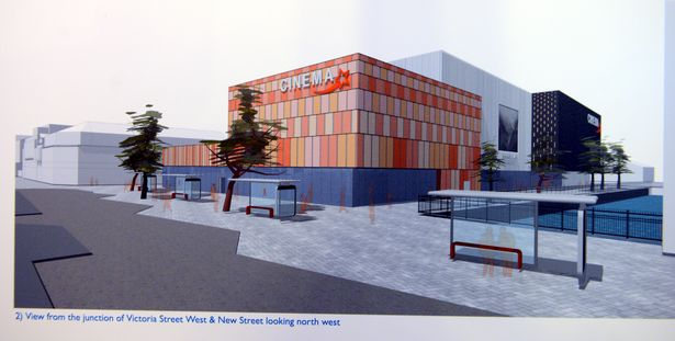 Cinema plans for Grimsby's Freshney Place. (image: artist's impression)