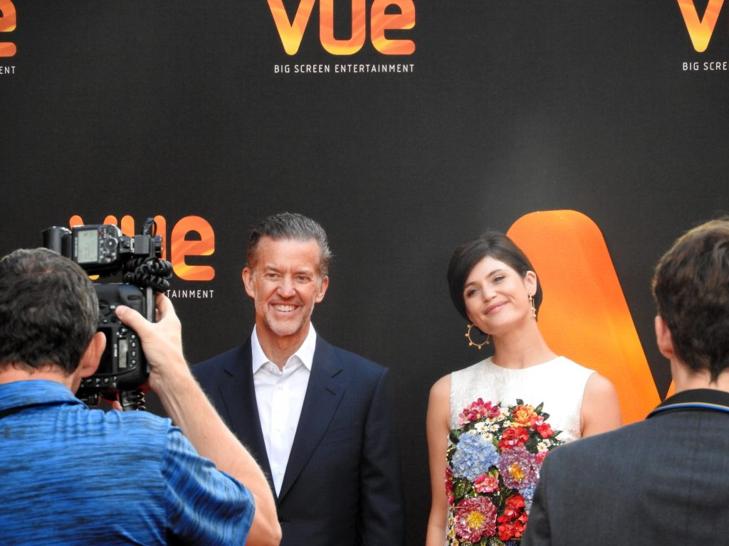 Vue West End Reopening - Vue CEO, Tim Richards and Actress Gemma Arterton