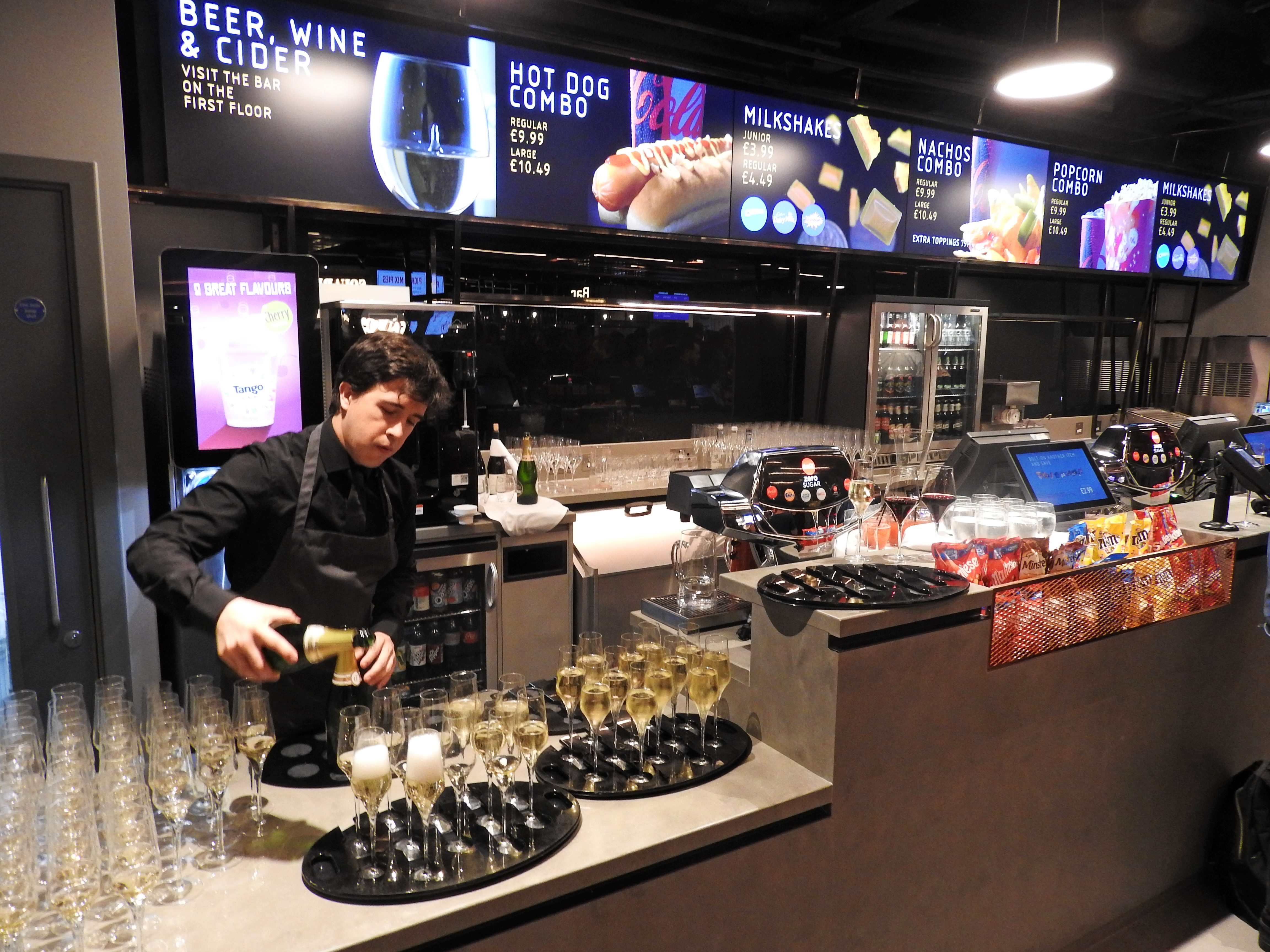 Vue West End Reopening - Concession Counter