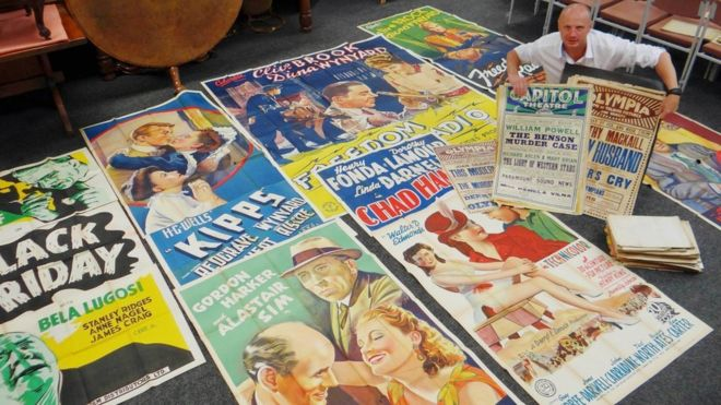 Auctioneer Ben Rogers Jones said the posters were hard to put a value on. (picture: BBC)
