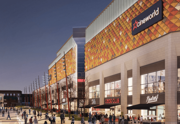The planned Cineworld in Warrington. (image: artist's impression)