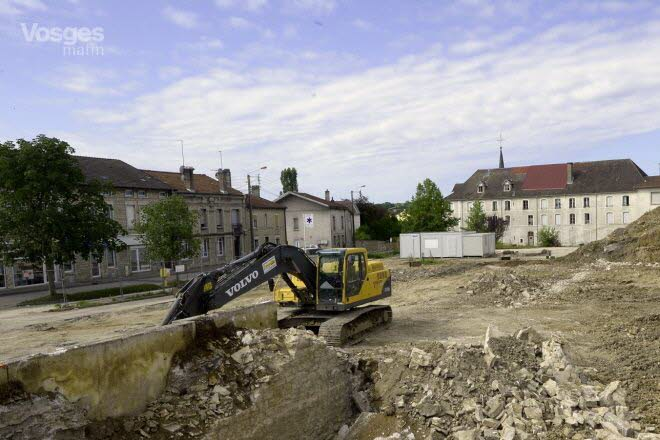 Digging for the cinema. (photo: Vosges Matin)