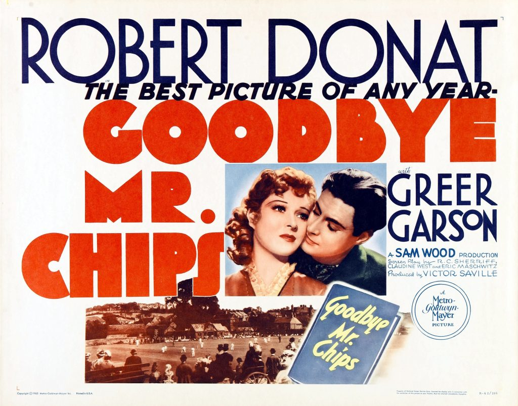 """Goodbye, Mr. Chips"" won an Oscar for Robert Donat in 1939."